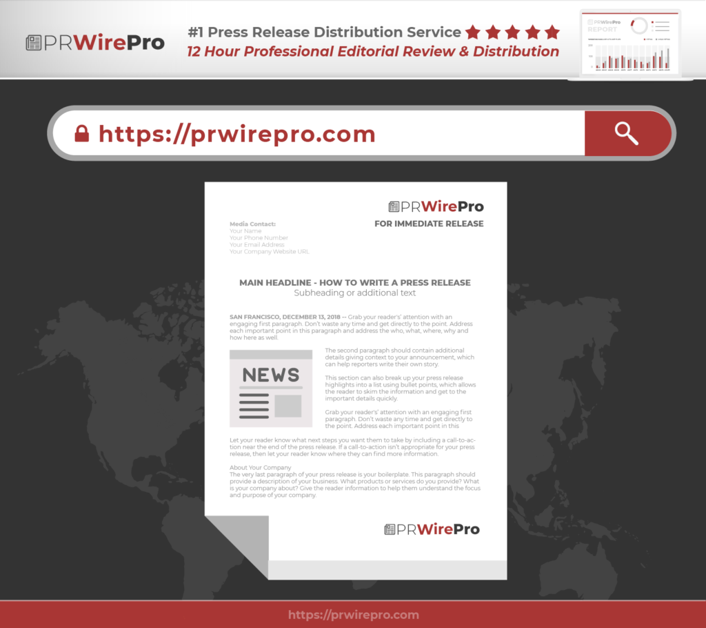 Press Release Template - 3 - Press Release Distribution - PRWirePro