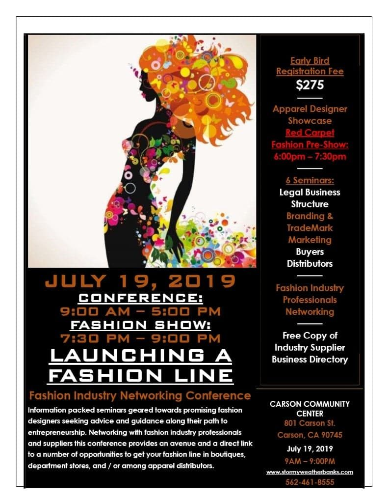 Launching A Fashion Line FLYER