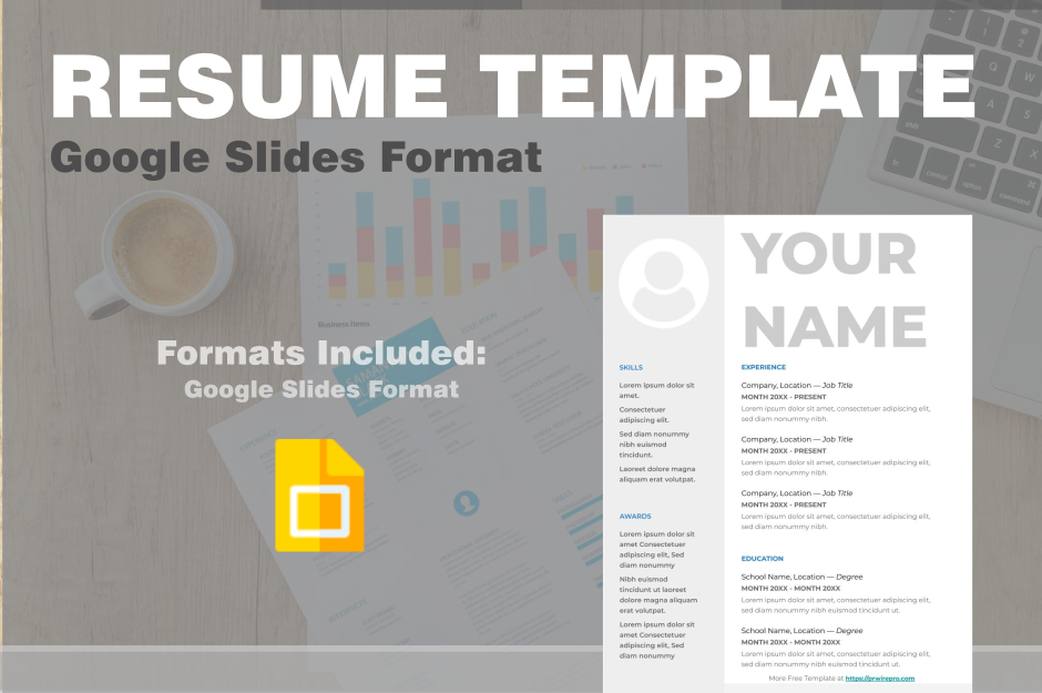 Blank Resume Template Google Slides Format PDF WORD DOC PPTX ODP SVG