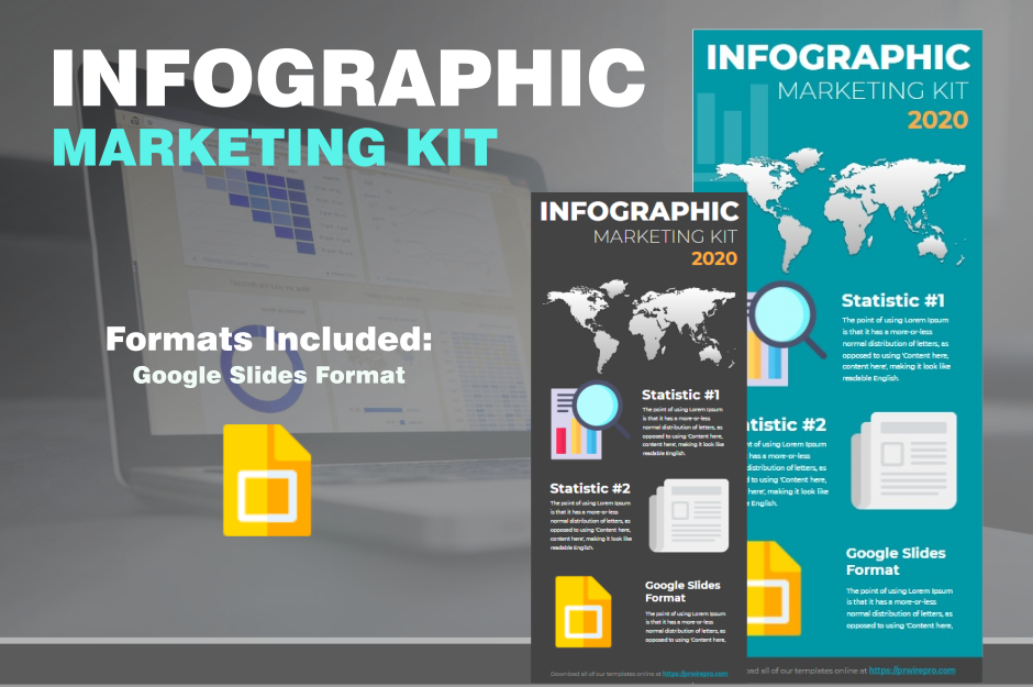 Infographic Template Marketing Kit - Google Slides Format Export easily to pdf jpg svg or png