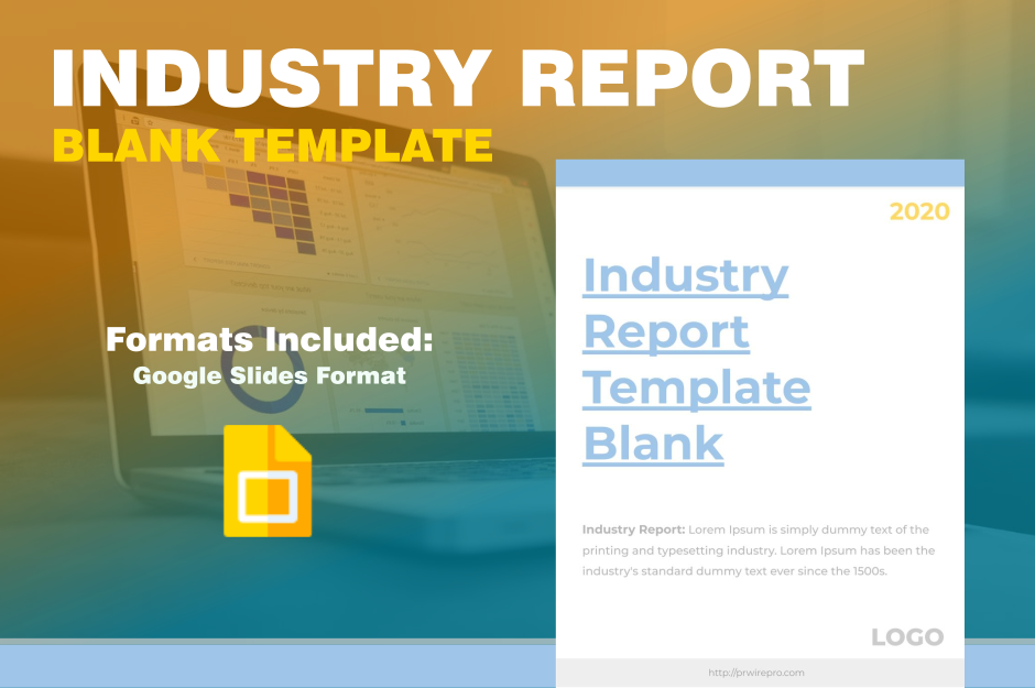 Market Industry Report Template Blank Google Slides export PDF SVG PNG JPG