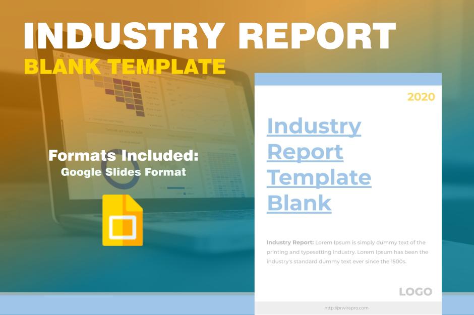 Market Industry Report Template Blank Google Slides export PDF SVG PNG JPG