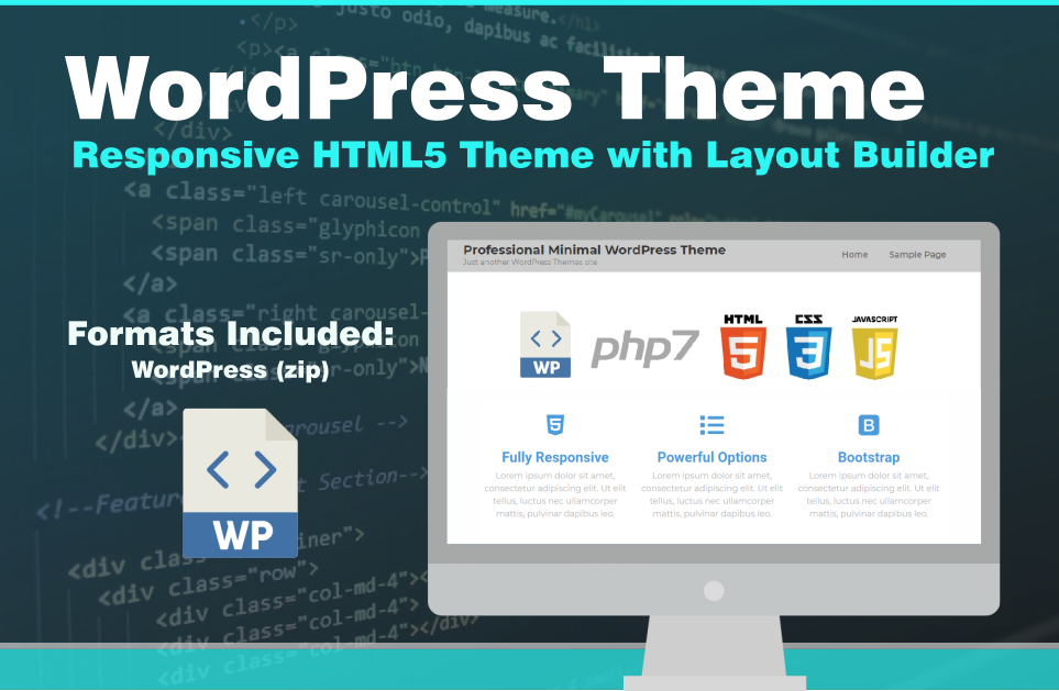 Professional Marketing Responsive WordPress Theme HTML5 CSS3 Template