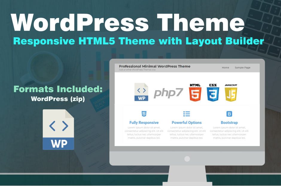 Responsive Marketing WordPress Theme HTML5 CSS3 Template
