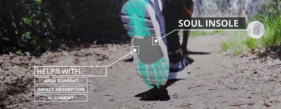Soul Insole Shoe Bubble Massaging Orthotics for Plantar Fasciitis - 002