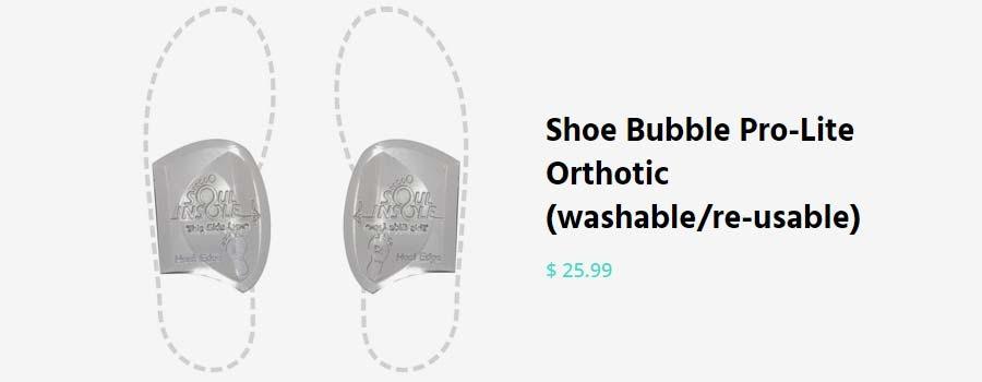Soul Insole Shoe Bubble Massaging Orthotics for Plantar Fasciitis - 003